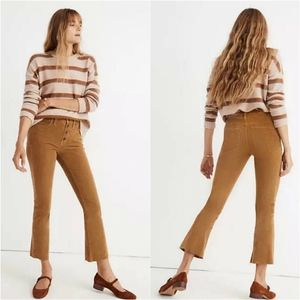 Madewell Button Fly Cali Demi Boot Corduroy Jeans